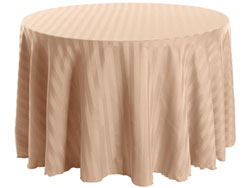 "90"" Round Polyester Stripe Tablecloth"