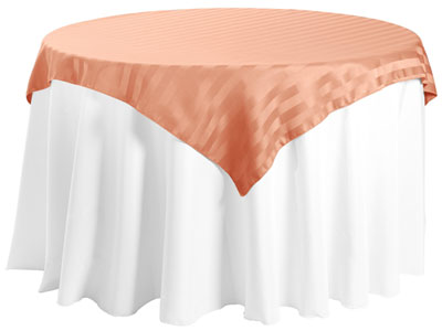 "45"" x 45"" Square Polyester Stripe Tablecloth"