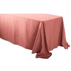 "90""x108"" Rectangular Polyester tablecloths with Rounded corners"