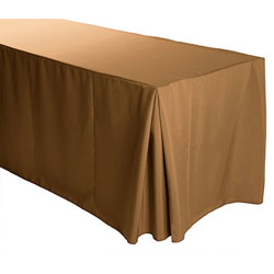 "4FT Premium Polyester Rectangular Fitted Tablecloth 30""x48""x29"" with Inverted Pleates"