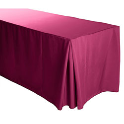"5FT Premium Polyester Rectangular Fitted Tablecloth 30""x60""x29"" with Inverted Pleates"