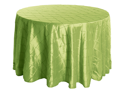 "132"" Round Premium Pintuck Tablecloth"