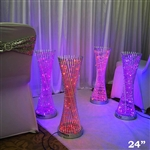 "24"" Color Changing LED Spiral Metal Party Tower Columns - 1 PCS"