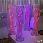 "39"" LED Spiral Metal Wedding Party Tower Columns - 1 PCS"