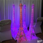 "57"" Color Changing LED Eiffel Tower Party Columns - 1PCS"