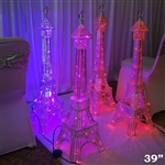 "39"" LED Metal Eiffel Tower Wedding Party Columns - 1PCS"