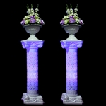 Verona Wedding Column Set of 4 with LED Lights