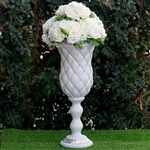 "24"" x 8.75"" 10mm Crystal Studded White French Inspired Decorative Wedding Party Floral Plant Stand Pot – Pack of 6"