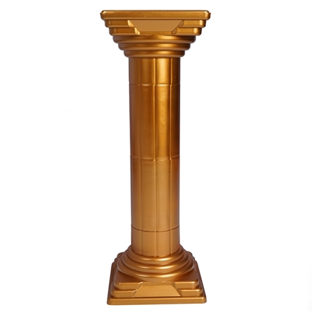 "32"" Tall Gold Empire Roman Wedding Party Columns Plant Stand - 4PCS"