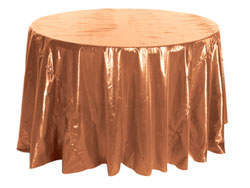 "108"" Premium Tissue Lame Round Tablecloth"