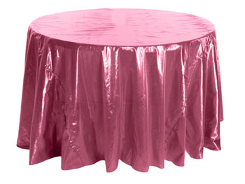 "120"" Premium Tissue Lame Round Tablecloth"