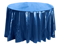 "132"" Premium Tissue Lame Round Tablecloth"