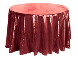 "70"" Premium Tissue Lame Round Tablecloth"