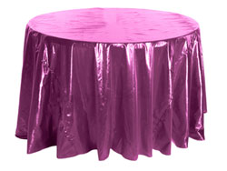 "90"" Premium Tissue Lame Round Tablecloth"