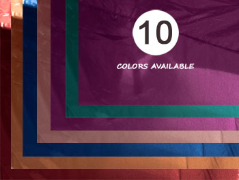 "20"" X 20"" Premium Tissue Lame Napkin Sample Kit - One of Each Color"