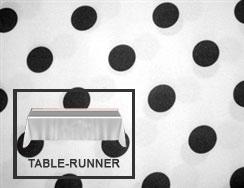 "Premium Polka Dot Table Runner 12""x120"""