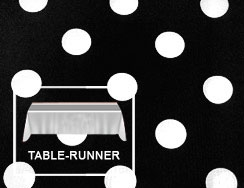 "Premium Polka Dot Table Runner 12""x108"""