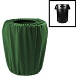 Premium Polyester Garbage Pail Cover (Small 55 Gallon)
