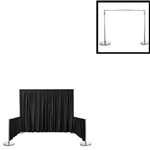 "Premium Polyester Back Drop With 3"" Top Pocket 72"" W X 6Ft H"