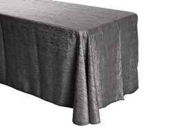 "90"" x 132"" Rectangle Crinkle Taffeta Tablecloth"
