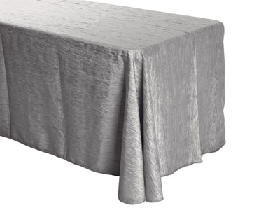 "90"" x 156"" Rectangle Crinkle Taffeta Tablecloth"