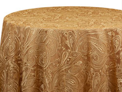 "Rental 108"" Paisley Lace Round Tablecloth"