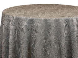 "Rental 132"" Paisley Lace Round Tablecloth"