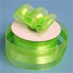 "10 Yards 1.5"" DIY Apple Green Satin Center Ribbon"