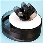 "10 Yards 1.5"" DIY Black Satin Center Ribbon"