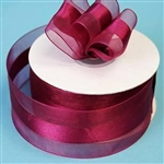 "10 Yards 1.5"" DIY Burgundy Satin Center Ribbon"