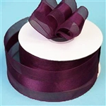 "10 Yards 1.5"" DIY Eggplant Satin Center Ribbon"