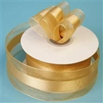 "10 Yards 1.5"" DIY Gold Satin Center Ribbon"