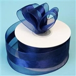 "10 Yards 1.5"" DIY Navy Blue Satin Center Ribbon"