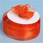 "10 Yards 1.5"" DIY Coral Orange Satin Center Ribbon"