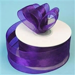 "10 Yards 1.5"" DIY Purple Satin Center Ribbon"