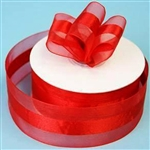 "10 Yards 1.5"" DIY Red Satin Center Ribbon"