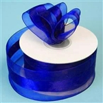 "10 Yards 1.5"" DIY Royal Blue Satin Center Ribbon"