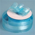 "10 Yards 1.5"" DIY Turquoise Satin Center Ribbon"