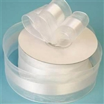 "10 Yards 1.5"" DIY White Satin Center Ribbon"
