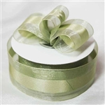 "10 Yards 1.5"" DIY Moss/Willow Satin Center Ribbon"