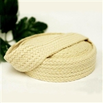 "10 Yards 1.25"" DIY Ivory Picturesque Woven Rustic Burlap Ribbon"