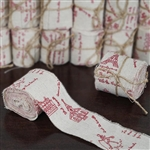 "3.5 Yards 2"" DIY Rustic Paris Cotton Ribbon - 12 PCS"