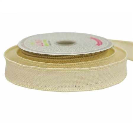 "10 Yards 7/8"" Ivory Burlap DIY Decorative Ribbons"