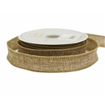 "10 Yards 7/8"" Natural Tone Burlap DIY Decorative Ribbons"