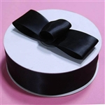 "50 Yards 1.5"" DIY Black Satin Ribbon"