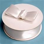 "50 Yards 1.5"" DIY White Satin Ribbon"