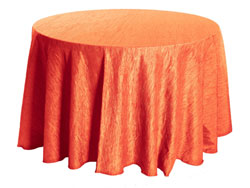 "102"" Round Crinkle Taffeta Tablecloth"