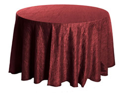 "108"" Round Crinkle Taffeta Tablecloth"