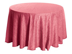 "132"" Round Crinkle Taffeta Tablecloth"