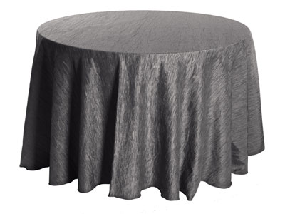 "84"" Round Crinkle Taffeta Tablecloth"